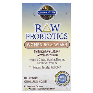 Garden of Life, RAW Probiotics, Women 50 & Wiser, 90 Vegetarian Capsules
