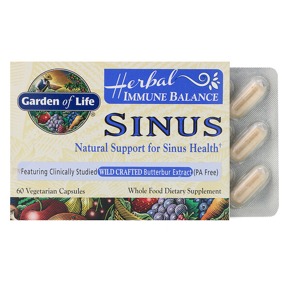 Herbal Immune Balance, Sinus, 60 Vegetarian Capsules
