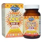 Отзывы о Garden of Life, витаминный код , RAW D3, 5,000 МЕ, 60 вегетарианских капсул