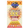 Garden of Life, Vitamin Code, RAW D3, 125 mcg (5,000 IU), 60 Vegetarian Capsules