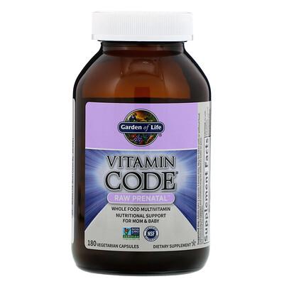 Vitamin Code, RAW prenatal, 180 Vegetarian Capsules недорого