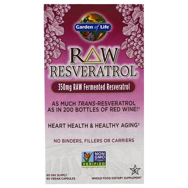 Garden of Life, RAW Resveratrol, 350 mg, 60 Veggie Caps
