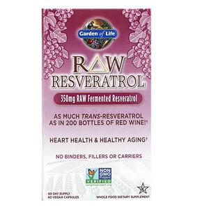 Гарден оф Лайф, RAW Resveratrol, 350 mg, 60 Vegan Capsules отзывы покупателей