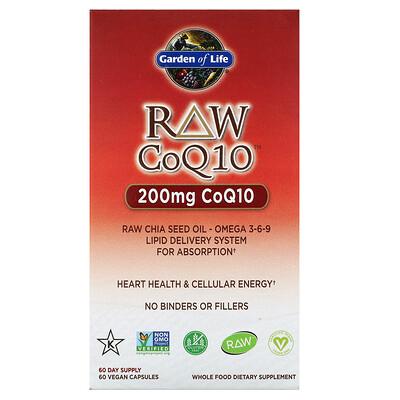Фото - RAW CoQ10, 200 mg, 60 Vegan Capsules grapefruit seed 250 mg 60 vegan capsules