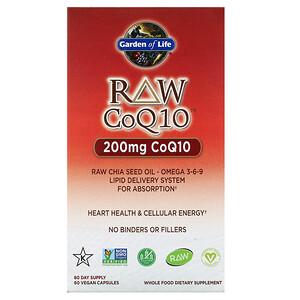 Гарден оф Лайф, RAW CoQ10, 200 mg, 60 Vegan Capsules отзывы покупателей