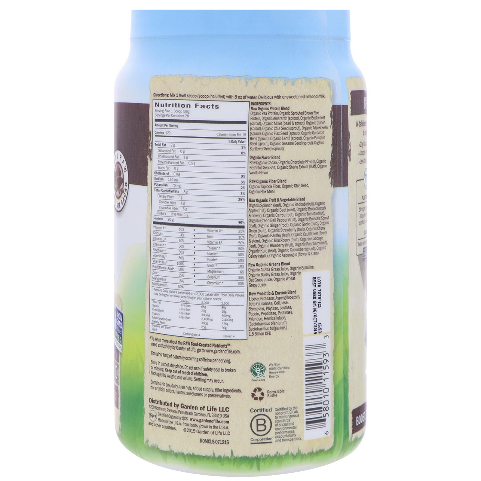 Garden of life raw organic meal shake meal replacement - Garden of life raw meal weight loss plan ...