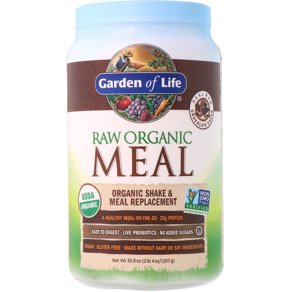RAW Organic Meal, Shake & Meal Replacement, Chocolate Cacao, 2.24 lbs (1,017g)