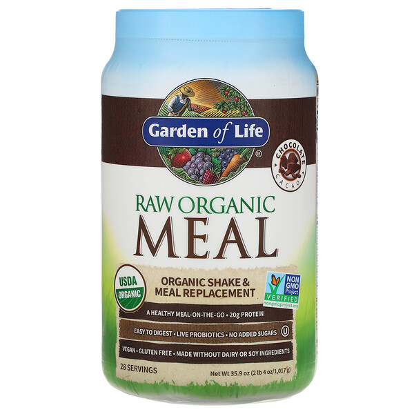 RAW Organic Meal, Shake & Meal Replacement, Chocolate Cacao, 2 lb 4 oz (1,017 g)