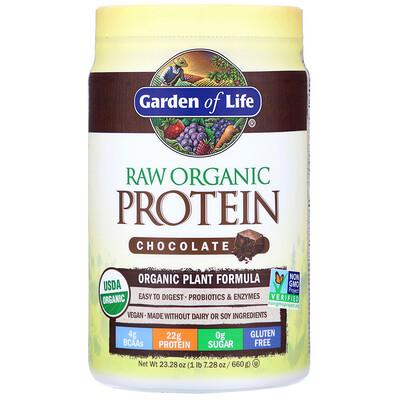 RAW Organic Protein, Plant Formula, Chocolate, 23.28 oz (660 g)