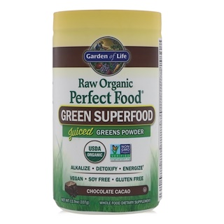 Garden of Life, Raw Organic Perfect Food, Green Super Food, Chocolate Cacao, 10 oz (285 g)