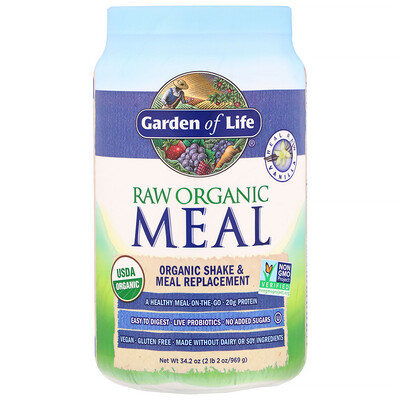 RAW Organic Meal, Shake & Meal Replacement, Vanilla, 34.2 oz (969 g)