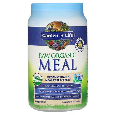 Garden of Life RAW Organic Meal, Shake & Meal Replacement, Vanilla, 2 lb 2 oz (969 g)