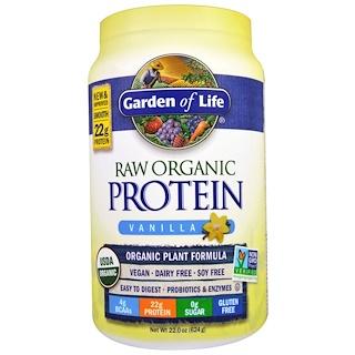 Garden of Life, RAW Organic Protein, Organic Plant Formula, Vanilla, 1.37 lbs (624 g)