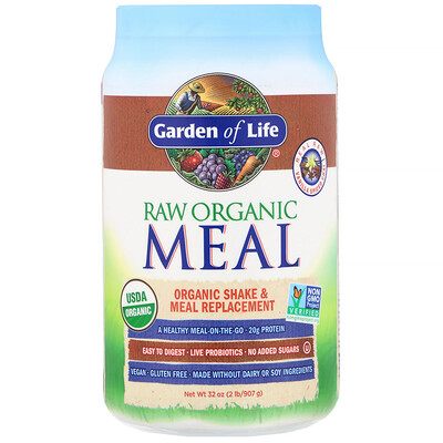RAW Organic Meal, Shake and Meal Replacement, Vanilla Spiced Chai, 32 oz (907 g)