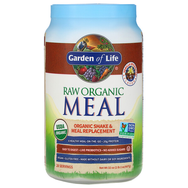 RAW Organic Meal, Shake & Meal Replacement, Vanilla Spiced Chai, 2 lb 2 oz (907 g)