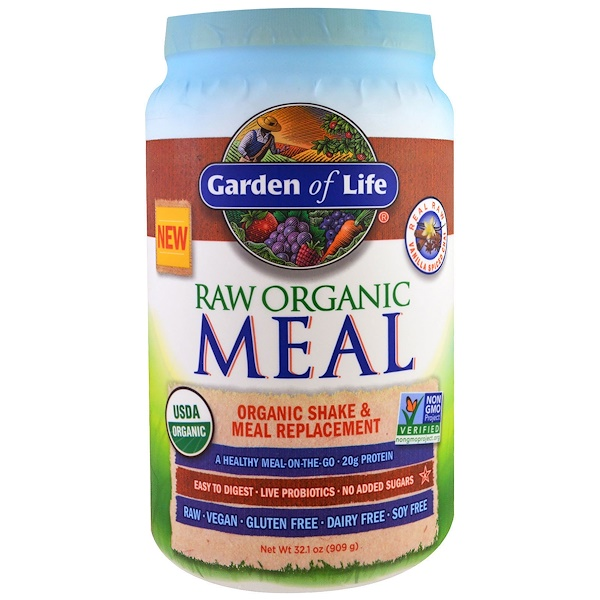 Garden of Life, RAW Meal, Organic Shake and Meal Replacement, Vanilla Spiced Chai, 32.1 oz (909 g)