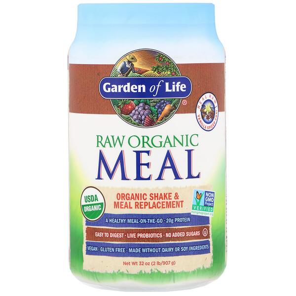 RAW Organic Meal, Shake & Meal Replacement, Vanilla Spiced Chai, 32 oz (907 g)