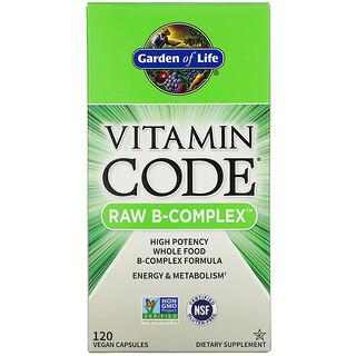 Garden of Life, Vitamin Code, RAW B-Complex, 120 Vegan Capsules
