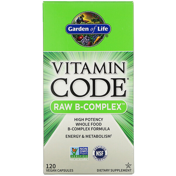 Garden of Life, Vitamin Code,RAW B 族維生素,120 粒素食膠囊