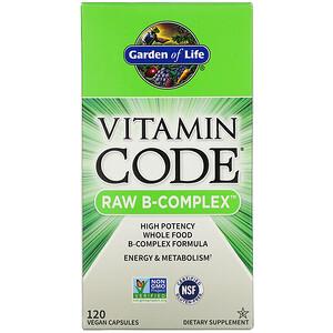 Гарден оф Лайф, Vitamin Code, RAW B-Complex, 120 Vegan Capsules отзывы покупателей