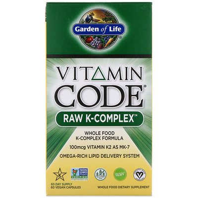 Vitamin Code, RAW K-Complex, 60 Vegan Capsules