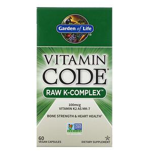 Гарден оф Лайф, Vitamin Code, RAW K-Complex, 60 Vegan Capsules отзывы покупателей
