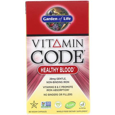 Купить Vitamin Code, для здоровья крови, 60 растительных капсул