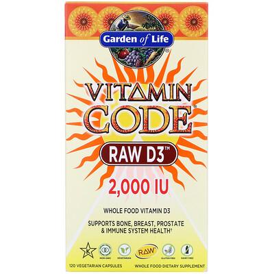 vitamin d3 blister 30 capsules Vitamin Code, RAW D3, 2,000 IU, 120 Vegetarian Capsules