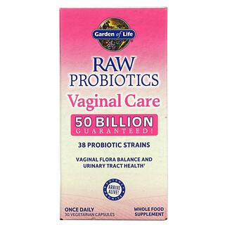 Garden of Life, RAW Probiotics, Vaginal Care, 50 Billion, 30 Vegetarian Capsules