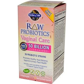 Garden of Life, RAW Probiotics, Vaginal Care, 30 Veggie Caps