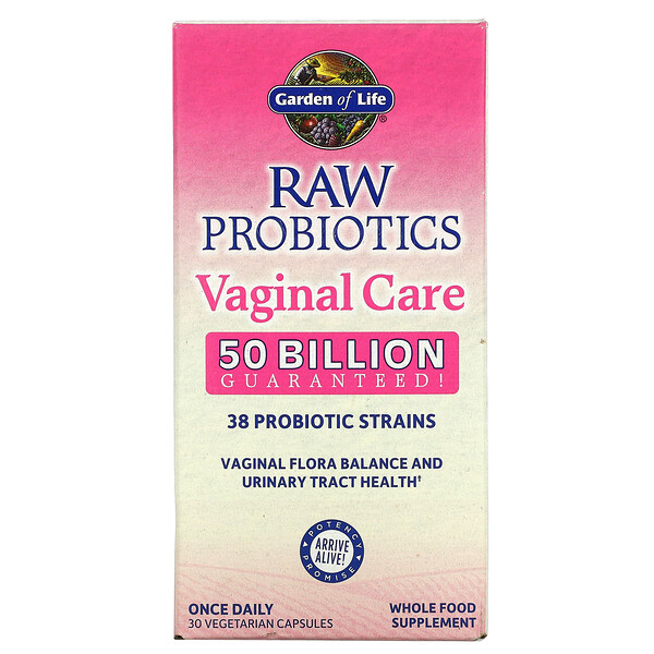 RAW Probiotics, Vaginal Care, 50 Billion, 30 Vegetarian Capsules