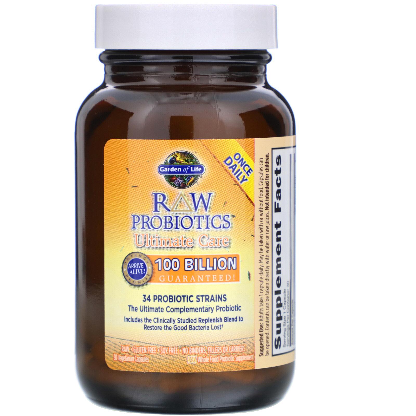 Garden Of Life Raw Probiotics Ultimate Care 30 Vegetarian Capsules Iherb