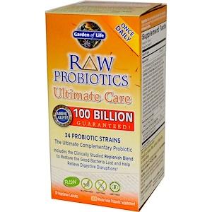 Garden of Life, Сырые пробиотики для наилучшей поддержки, 30 капсул на растительной основе