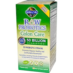 Garden of Life, RAW Probiotics, Colon Care, 30 Veggie Caps (Ice)