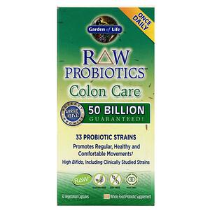 Гарден оф Лайф, RAW Probiotics, Colon Care, 30 Vegetarian Capsules отзывы покупателей