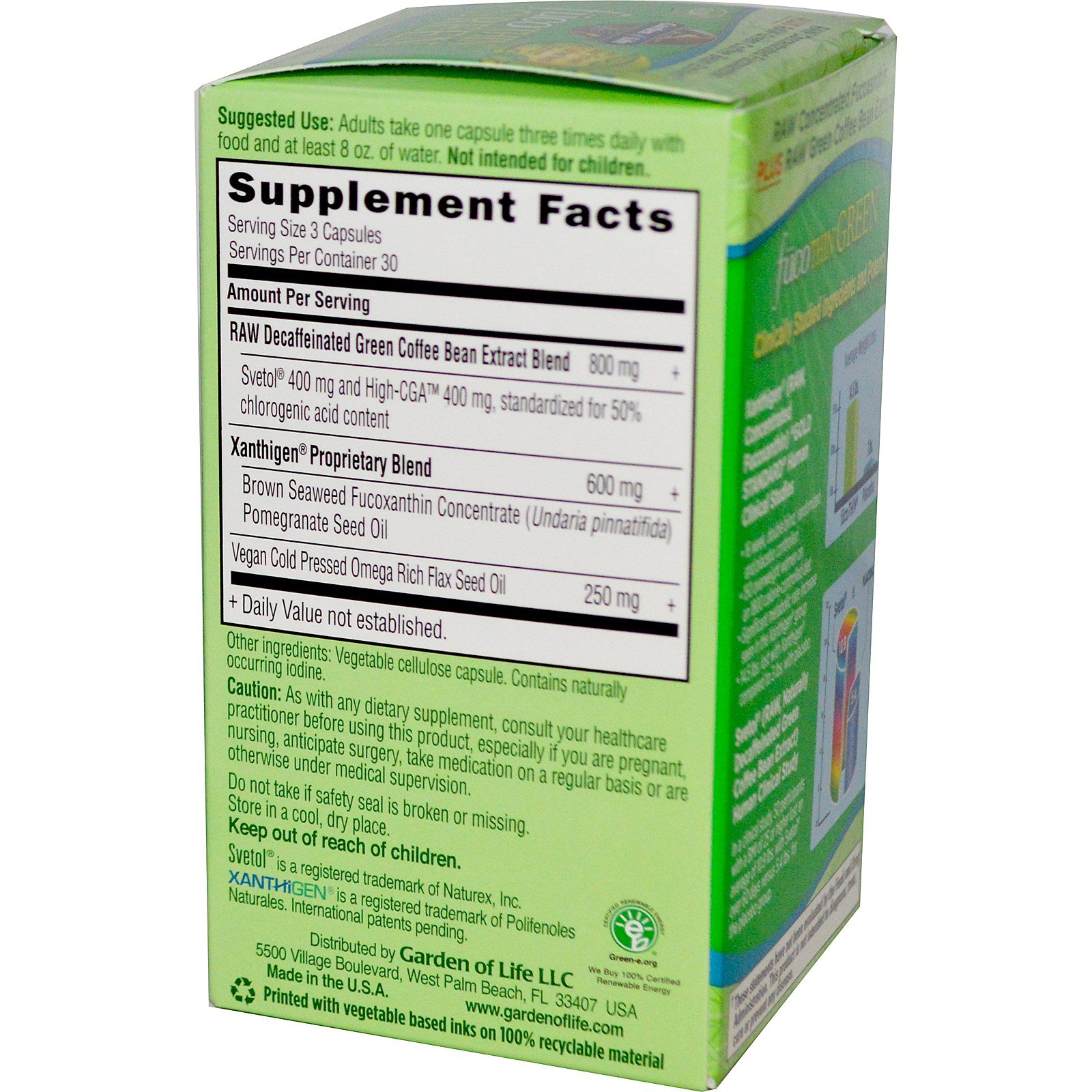 Garden of Life, FucoThin Green, 90 Veggie Caps - iHerb.com