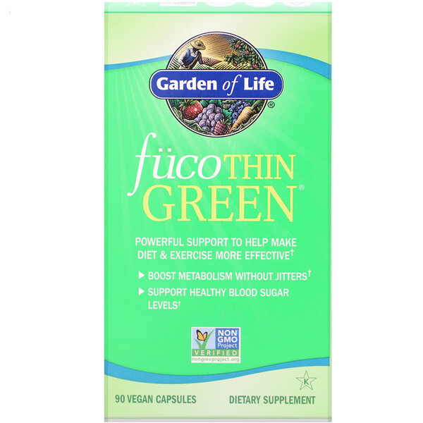 Garden of Life, FucoThin Green, 90 Vegan Capsules