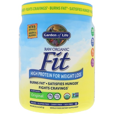 RAW Organic Fit, High Protein for Weight Loss, Original, 15.1 oz (427 g)