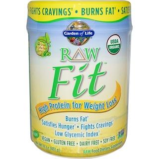 Garden of Life, RAW Fit, Alta Proteína para Pérdida de Peso, 16 oz (451 g)