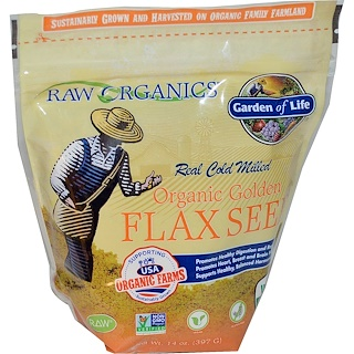 Garden of Life, Organic Golden Flax Seed, 14 oz (397 g)