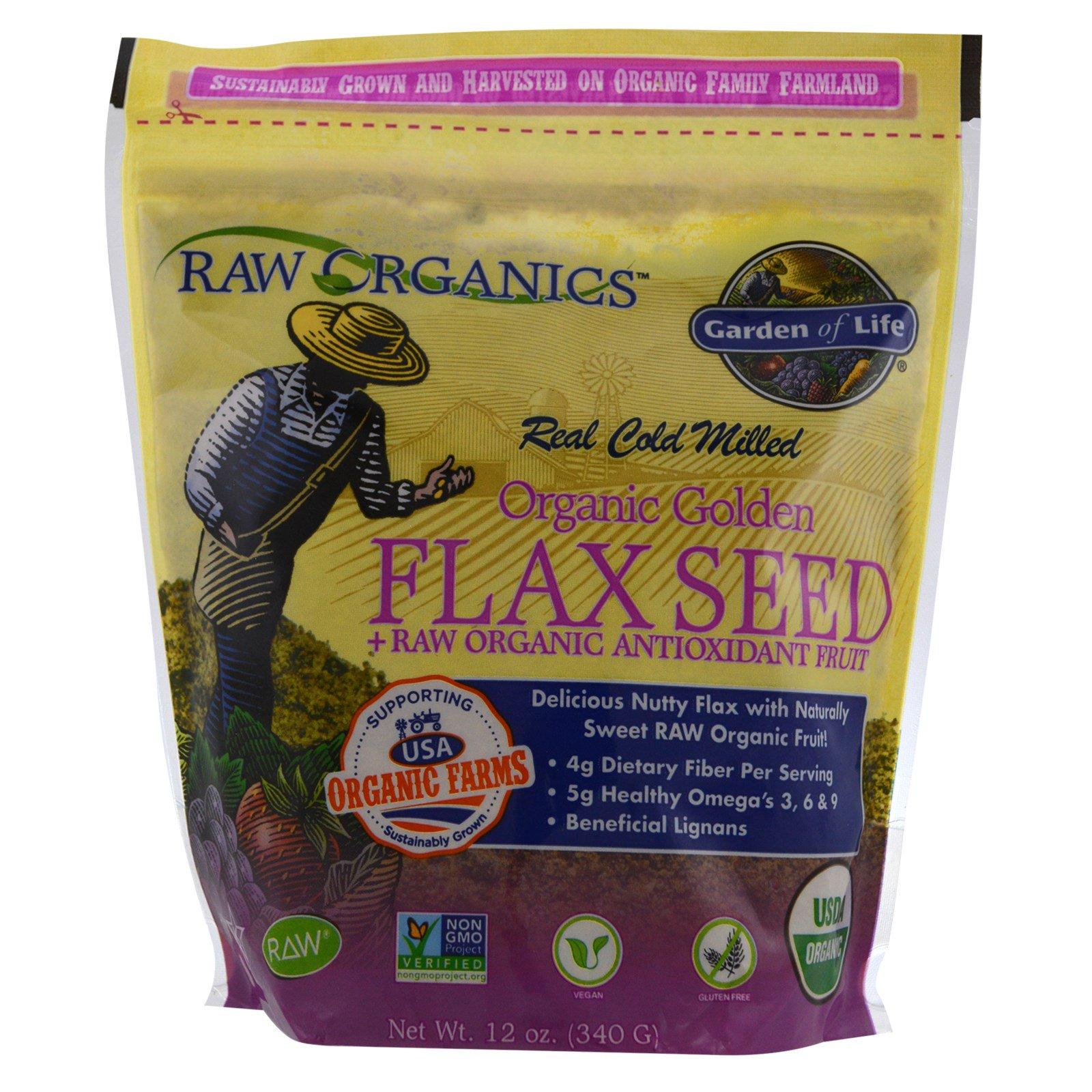 Garden of Life, Органическое золото, льняные семена + сырые органические антиоксидантные фрукты, 340 г (12 унций)