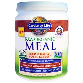 Garden of Life, RAW Organic Meal, Shake and Meal Replacement, Vanilla Spiced Chai, 16 oz (455 g)