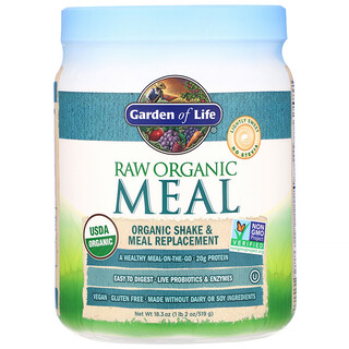 Garden of Life, RAW Organic Meal, Shake & Meal Replacement, 18.3 oz (519 g)