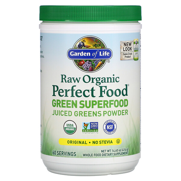 Raw Organic Perfect Food, Green Superfood, Juiced Greens Powder, Original, 14.6 oz (414 g)