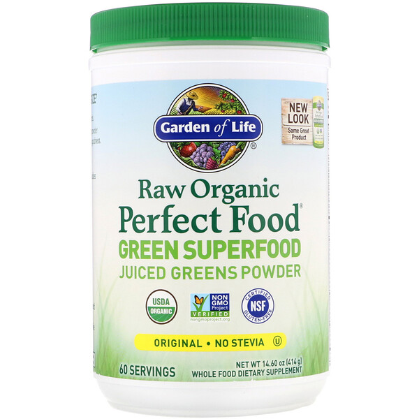 Garden of Life, Raw Organic Perfect Food, Green Superfood, Original, 14.8 oz (419 g)