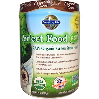 Garden of Life, Raw Organic Perfect Food, Green Super Food, Chocolate Cacao, 20 oz (570 g)