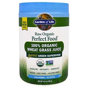 Гарден оф Лайф, RAW Organic Perfect Food, 100% Organic Wheat Grass Juice, Unflavored, 4.2 oz (120 g) отзывы покупателей