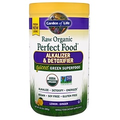 Garden of Life, Raw Organic Perfect Food, Alkalizer & Detoxifier, Lemon-Ginger , 10.1 oz (285 g)
