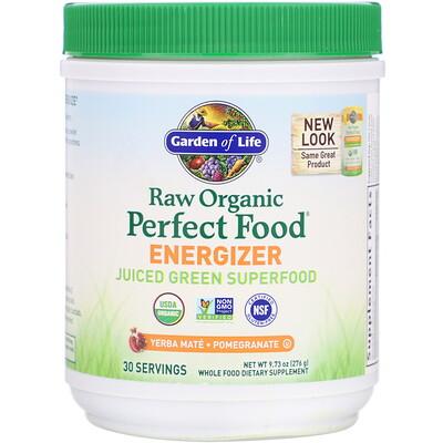 Купить RAW Organic Perfect Food Energizer, Yerba Mate- Pomegranate, 9.73 oz (276 g)