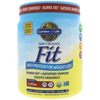 Garden of Life, Raw Organic Fit с высоким содержанием белка для похудения, кофе, 16 унций (454 г)